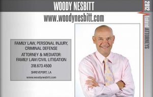 Woody Nesbitt 2012 Top Shreveport-Bossier Attorney